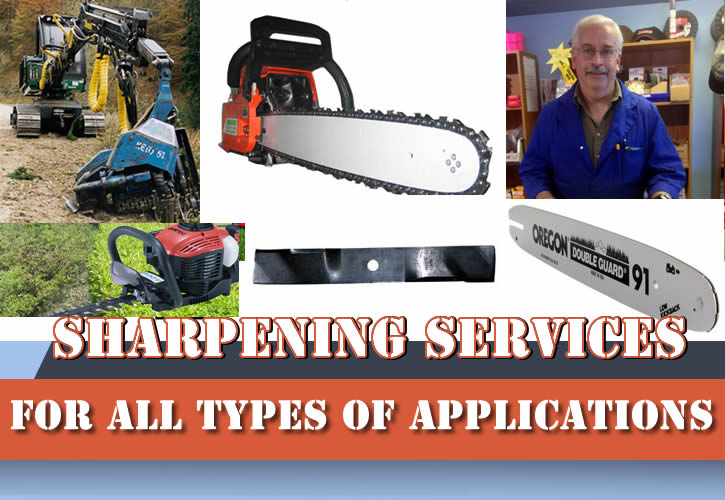 Power Equipment Sharpening Services