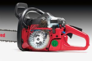 TURBO Jonsered's unique turbo intake air cleaning system removes up to 97% of the sawdust from the air before it even reaches the air filter.